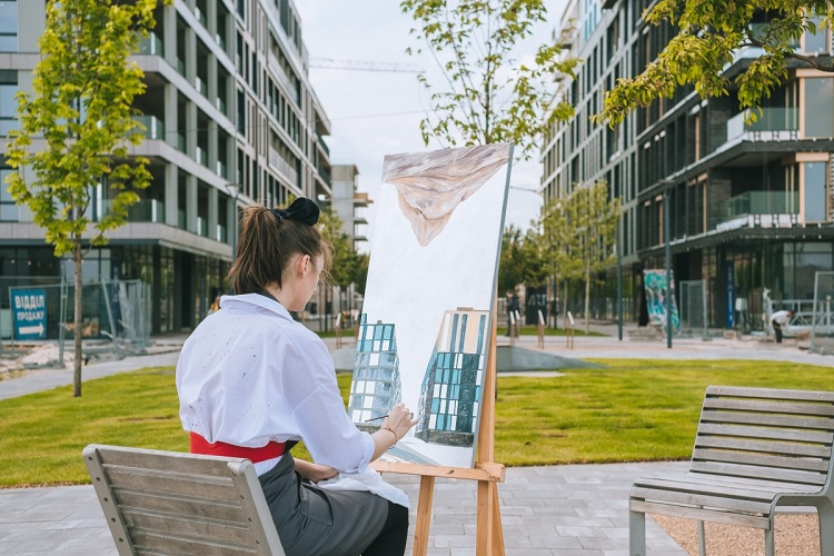 Ukrainian artists have conducted a plein-air painting at RYBALSKY
